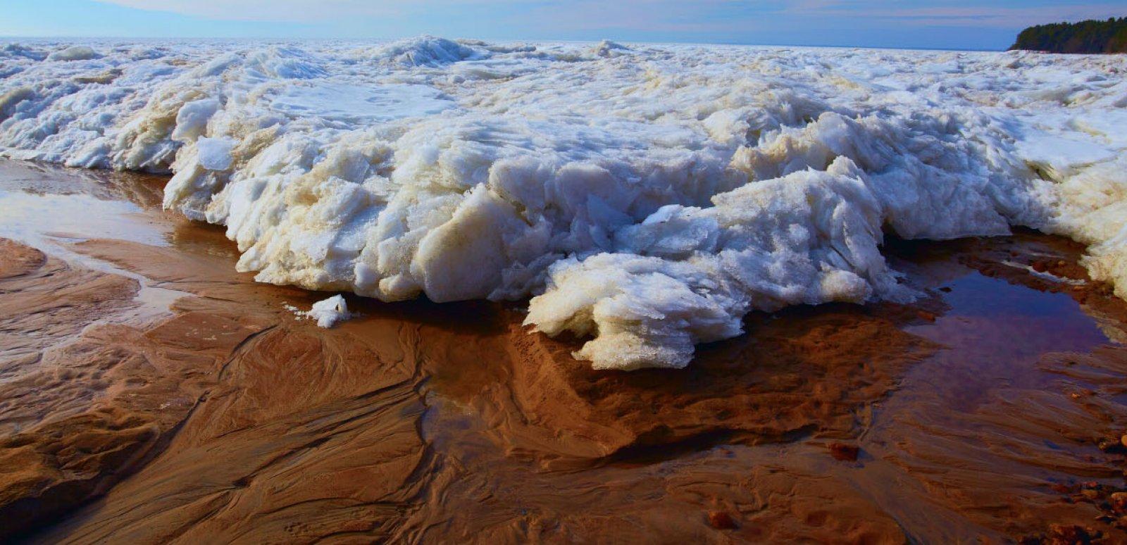 receding ice sheets