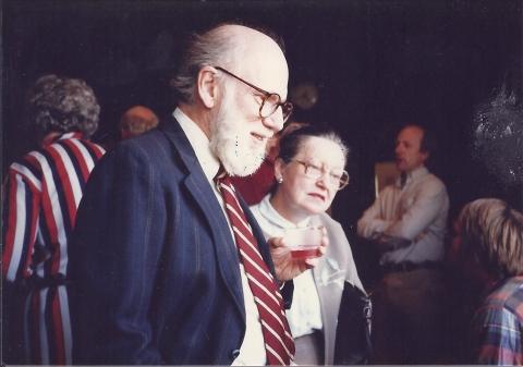 Mary Alice and her husband, professor John F. Hubert.