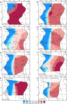 Figure from paper showing maps of oxygenation in Western Interior Seaway
