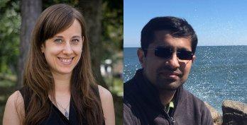 Heashots of Shaina Rogstad and Dr. Ambarish Karmalkar