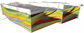 3D Geologic Cross Section.  Image Source: Petroleum Experts Limited.