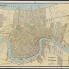 Antique map of the city of New Orleans