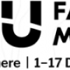 "AGU Fall meeting logo with slogan ""Online Everywhere"" and dates of meeting: December 1-17 2020"